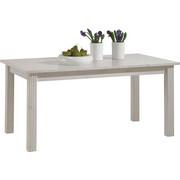 ESSTISCH Kiefer massiv rechteckig Weiß  - Weiß, LIFESTYLE, Holz (160(204)/90/74,5cm) - Carryhome