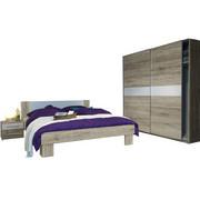 SPALNICA, bela, hrast - bela/hrast, Design, leseni material (180/200cm) - Xora