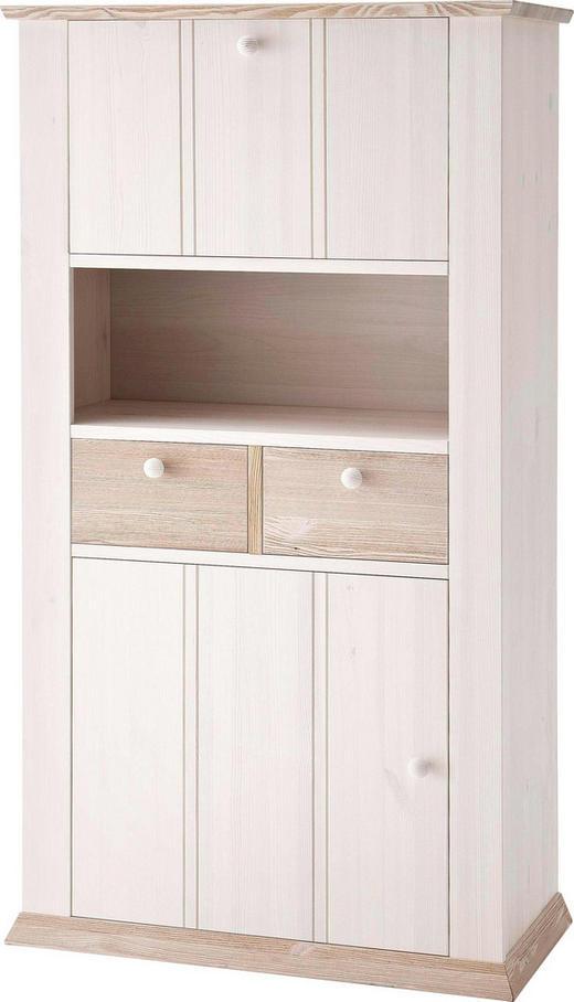 SCHRANK Kiefer massiv lackiert Weiß - Weiß, LIFESTYLE, Holz (88,5/157,5/43cm) - Carryhome