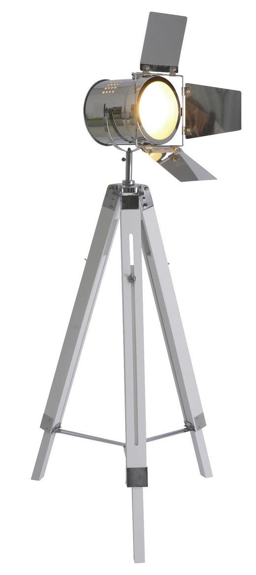 STEHLEUCHTE - Weiß, Design, Holz/Metall (100-140/56,5 /71 cm)