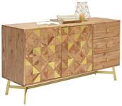 SIDEBOARD 145/80/50 cm - Messingfarben/Goldfarben, LIFESTYLE, Holz/Holzwerkstoff (145/80/50cm) - Landscape