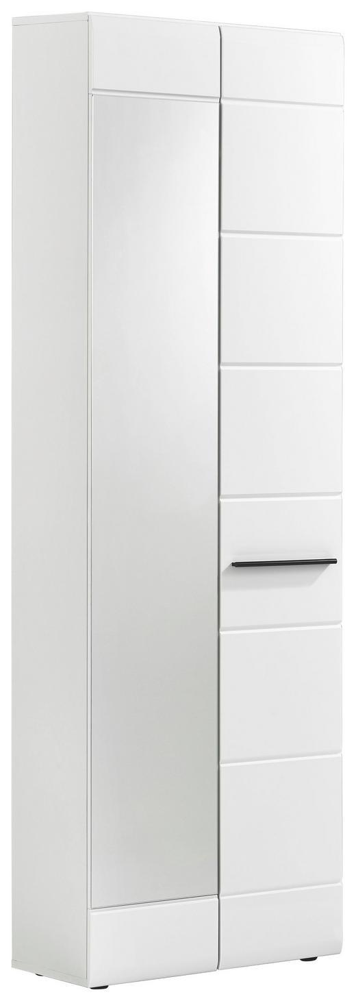 GARDEROBENSCHRANK Glanz Weiß - Schwarz/Weiß, Design, Kunststoff (60/199/35cm) - Carryhome