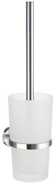 WC-BÜRSTENGARNITUR - Chromfarben, Basics, Glas/Kunststoff (11,9/38cm)