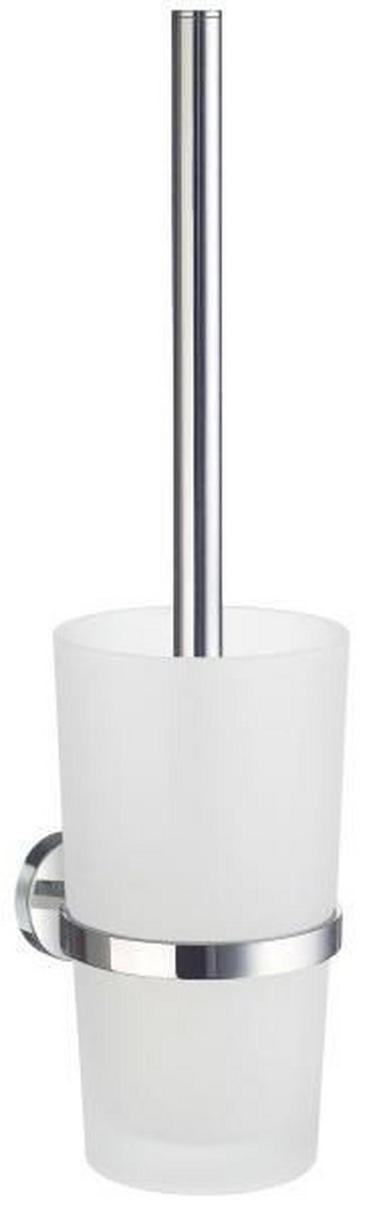 WC-BÜRSTENGARNITUR in Metall - Chromfarben, Basics, Glas/Kunststoff (11,9/38cm)