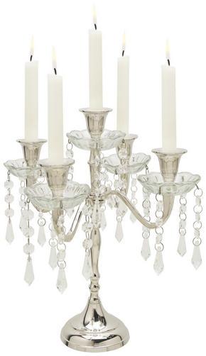 LJUSSTAKE - klar/silver, Trend, metall/glas (31/31/30cm) - Ambia Home