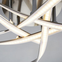 LED-DECKENLEUCHTE   - Chromfarben, Design, Metall (66cm) - Novel