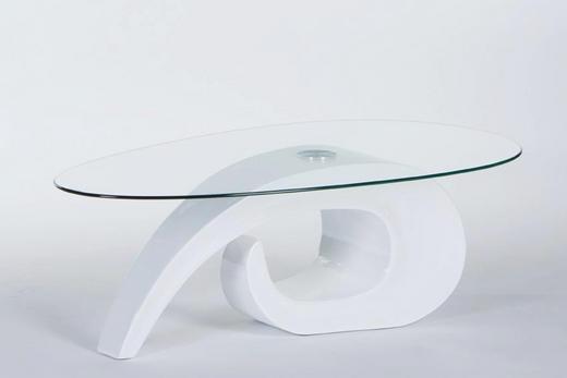 COUCHTISCH Weiß - Weiß, Design, Glas (120/70/41cm) - Carryhome