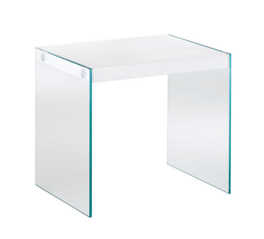 BEISTELLTISCH rechteckig Weiß  - Weiß, Basics, Glas (46/43/35cm) - Carryhome