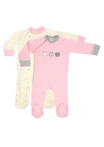 Schlafanzugset 2-tlg. - Rosa/Weiß, Basics, Textil (56null) - My Baby Lou