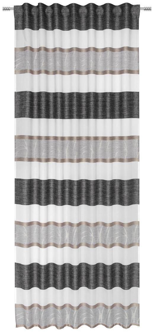 FERTIGVORHANG transparent - Creme/Schwarz, KONVENTIONELL, Textil (135/245cm) - Esposa