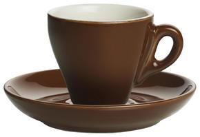 ESPRESSOKOPP MED FAT - brun, Basics, keramik - Novel