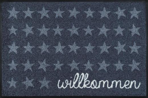FUßMATTE 50/75 cm Stern Grau - Grau, Basics, Kunststoff/Textil (50/75cm) - Esposa
