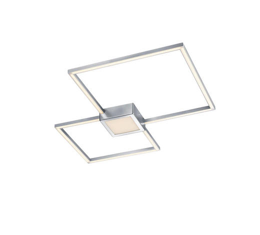 LED-DECKENLEUCHTE - Nickelfarben, Design, Metall (65/5/65cm)