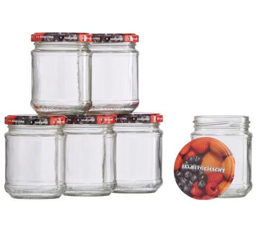 EINMACHGLAS-SET - Transparent/Multicolor, Basics, Glas/Metall (0,2l)