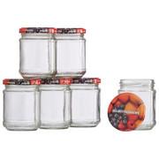 KONSERVERINGSGLAS SET - multicolor/transparent, Basics, metall/glas (0,2l)