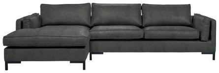 WOHNLANDSCHAFT in Textil Grün  - Schwarz/Grün, Design, Textil/Metall (160/295cm) - Hom`in