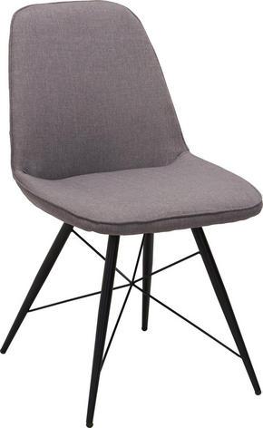 STOL - grå/svart, Design, metall/textil (60/86/58cm) - Carryhome