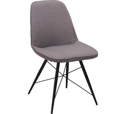 STOLICA - siva/crna, Design, metal/tekstil (60/86/58cm) - Hom`in