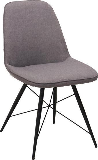 STUHL in Metall, Textil Grau, Schwarz - Schwarz/Grau, Design, Textil/Metall (60/86/58cm) - Carryhome