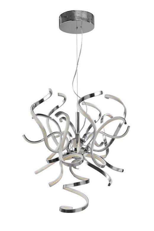 LED-HÄNGELEUCHTE - Alufarben, MODERN, Metall (60/300cm)