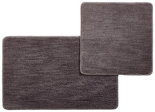 BADEMATTE  Grau - Grau, Kunststoff/Textil - Esposa
