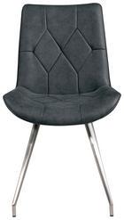 STOLICA - boje oplemenjenog čelika/crna, Design, metal/tekstil (51,5/89/65,5cm) - NOVEL