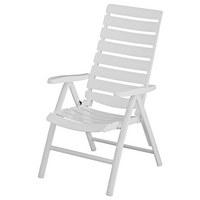 GARTENKLAPPSESSEL Weiß - Weiß, KONVENTIONELL, Kunststoff/Metall (64/112/71cm) - KETTLER HKS