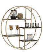 WANDREGAL - Goldfarben/Schwarz, Trend, Holz/Metall (80/80/22cm) - Lomoco
