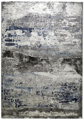 VÄVD MATTA - blå/silver, Design, plast (133/190cm) - Novel