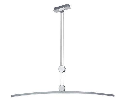 LED-HÄNGELEUCHTE - Alufarben/Weiß, Design, Kunststoff/Metall (110cm) - Dieter Knoll