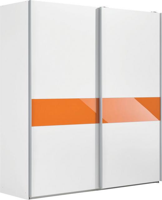 SCHWEBETÜRENSCHRANK 2  -türig Orange, Weiß - Orange/Weiß, Design, Holzwerkstoff (202/220/67cm) - XORA