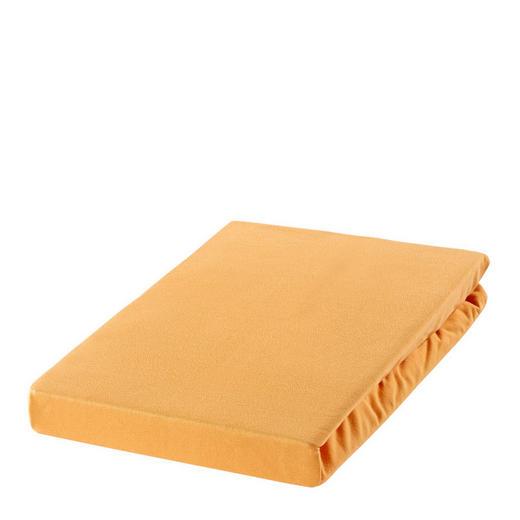 SPANNBETTTUCH Zwirn-Jersey Honig, Sandfarben bügelfrei, für Wasserbetten geeignet - Sandfarben/Honig, Basics, Textil (100/200cm) - ESTELLA
