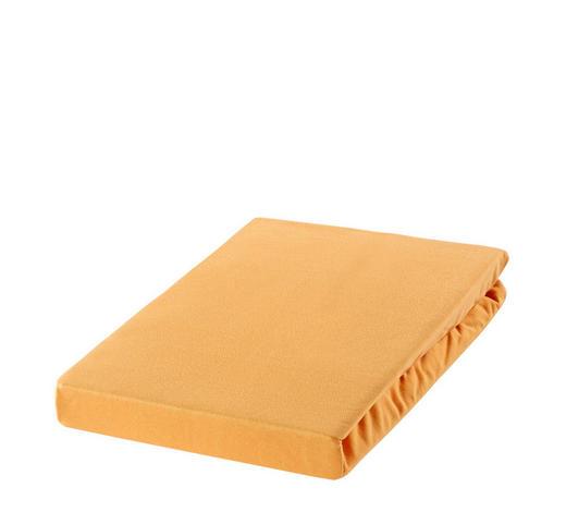 SPANNBETTTUCH Zwirn-Jersey Honig, Sandfarben bügelfrei, für Wasserbetten geeignet - Sandfarben/Honig, Basics, Textil (150/200cm) - Estella