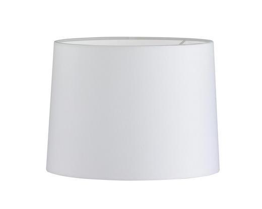 LEUCHTENSCHIRM  Weiß  Kunststoff, Textil - Weiß, Design, Kunststoff/Textil (25/18,5cm)