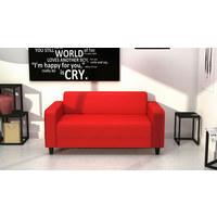 SOFA - Rot/Schwarz, KONVENTIONELL, Kunststoff/Textil (145/70/78cm) - Carryhome