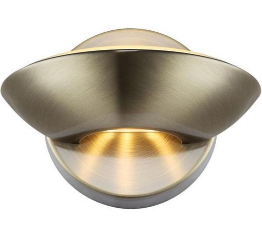 LED-WANDLEUCHTE - Messingfarben, KONVENTIONELL, Metall (16,5/11cm)