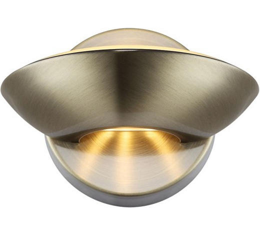 LED-WANDLEUCHTE - Messingfarben, MODERN, Metall (16,5/11cm)