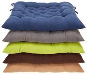 Sitzkissen Agatha - Blau, KONVENTIONELL, Textil - Ombra