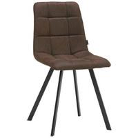 STUHL Webstoff Braun, Schwarz - Schwarz/Braun, Design, Textil/Metall (48,5/88/59cm) - Carryhome