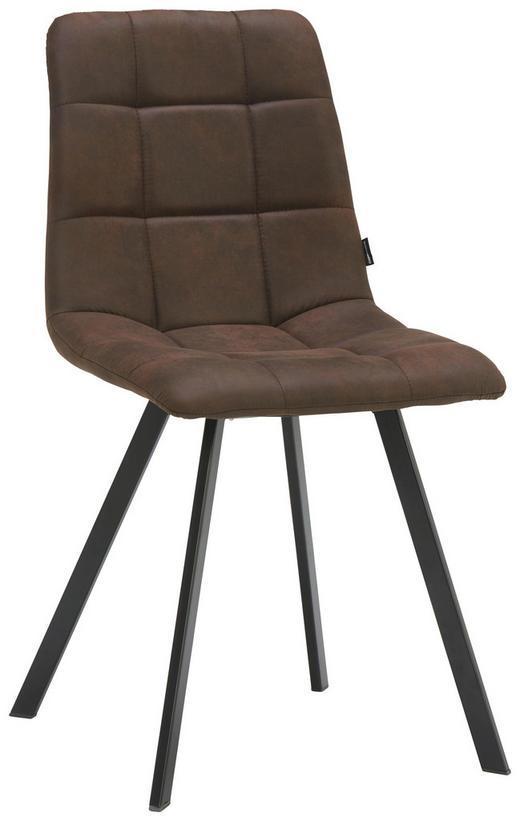 STUHL Webstoff Schwarz, Braun - Schwarz/Braun, Design, Textil/Metall (48,5 88 59cm) - Carryhome