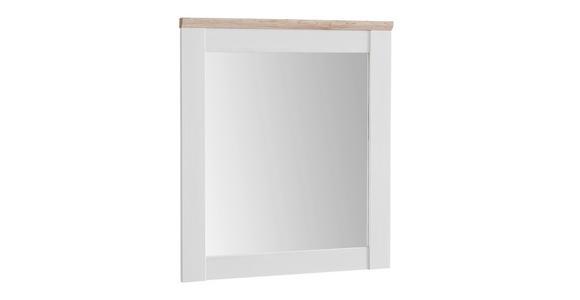 SPIEGEL 76/91/4 cm  - Eichefarben/Weiß, LIFESTYLE, Glas/Holzwerkstoff (76/91/4cm) - Xora