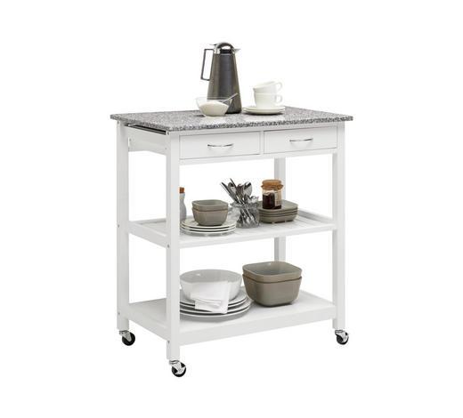 SERVÍROVACÍ VOZÍK, šedá, bílá - bílá/šedá, Design, kompozitní dřevo/kámen (78/87/48cm) - Xora