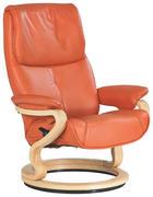 RELAXSESSEL Echtleder - Buchefarben/Orange, Design, Leder/Holz (84/105/86cm) - Himolla