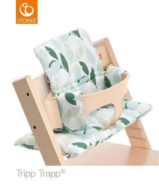 Tripp Trapp Sitzkissen green Forest - Hellgrün/Naturfarben, Basics, Textil (28/21/7cm) - Stokke