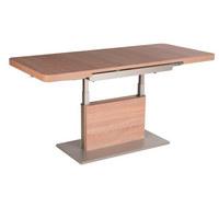 COUCHTISCH in Holzwerkstoff, Metall 110-150/68/55-74 cm - Eichefarben/Silberfarben, Design, Holzwerkstoff/Metall (110-150/68/55-74cm) - Venda