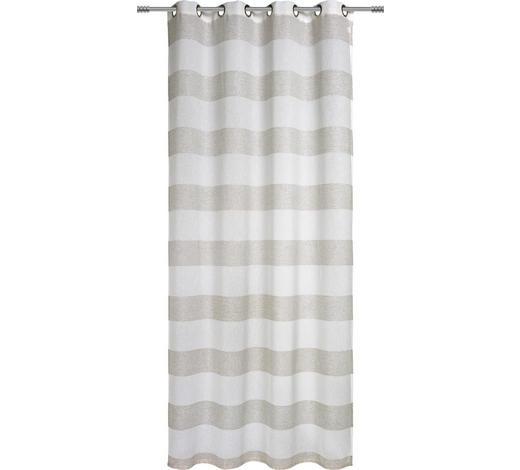ÖSENSCHAL  transparent   140/245 cm  - Taupe, Basics, Textil (140/245cm) - Esposa