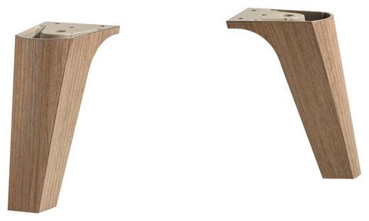 FUßSET - Eichefarben, KONVENTIONELL, Kunststoff (5,4/12/5,4cm) - Xora