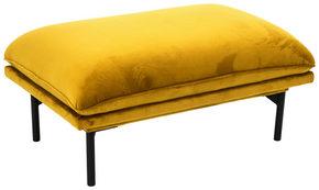 PALL - svart/gul, Design, metall/trä (60/44/90cm) - Welnova