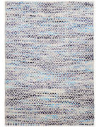 ROČNO TKANA PREPROGA DIAMOND  65/135 cm   modra, naravna, svetlo modra, bež  - naravna/modra, Basics, tekstil (65/135cm) - Tom Tailor