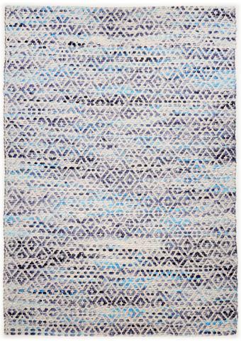 ROČNO TKANA PREPROGA DIAMOND - naravna/modra, Basics, tekstil (65/135cm) - Tom Tailor